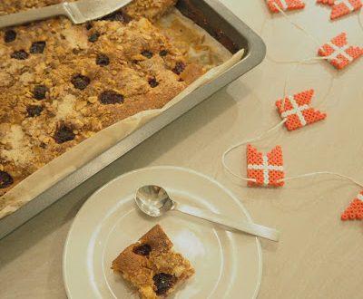 Rabarber hindbær kage