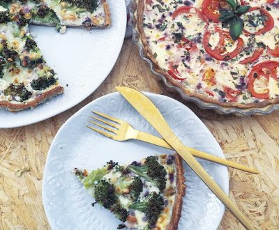 Tærte med broccoli og hytteost