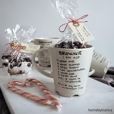 Brownie i en kop