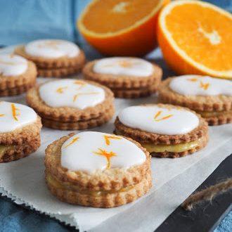 Appelsin småkager orangesnitter orangecurd