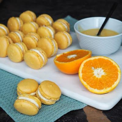 Macarons med appelsin