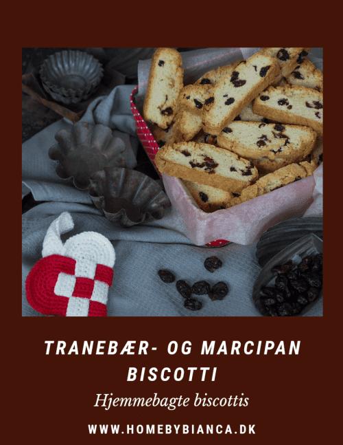 Tranebær og marcipan biscotti