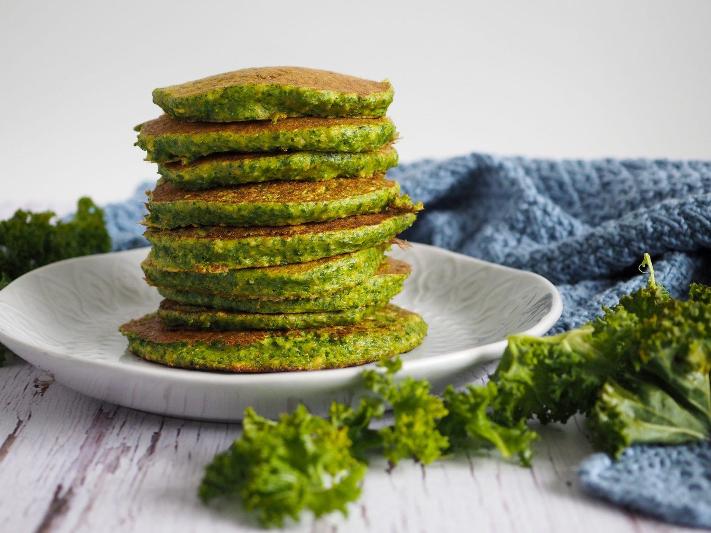 Grønkålspandekager uden mel