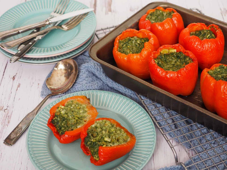 Fyldte peberfrugter uden kød